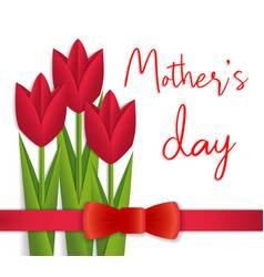 mothers day card with beautiful flowers vector image