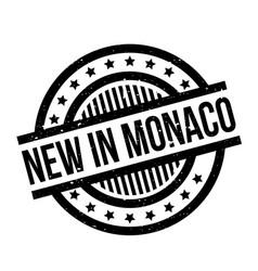 New in monaco rubber stamp vector