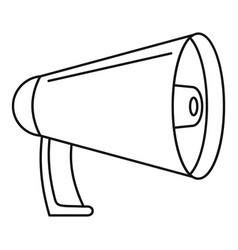 Noise of megaphone icon outline style vector
