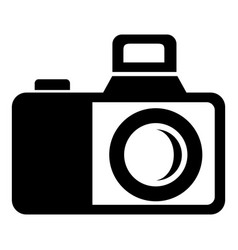 photocamera icon simple black style vector image