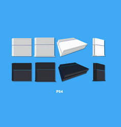 Playstation 4 all colors and types vector