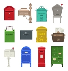 Post mail box set vector