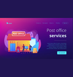 Post office concept landing page vector
