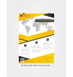 Poster layout vector image