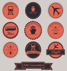 Public Transportation Label design vector image