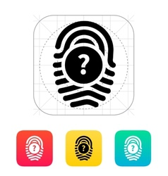 Question mark FAQ sign Fingerprint icon vector image