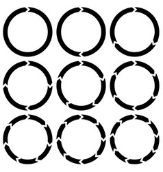 ring is broken into sectors circular arrows vector image
