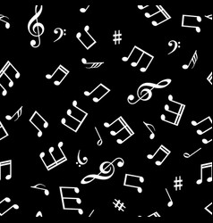 Seamless abstract background with music symbols vector