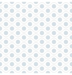 Seamless wavy pattern with dots vector image