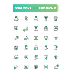 set 30 line icons education vector image