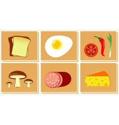 Set of food for breakfast vector