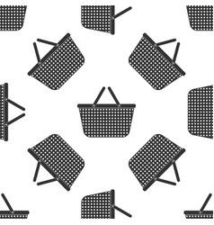 shopping basket icon seamless pattern vector image vector image