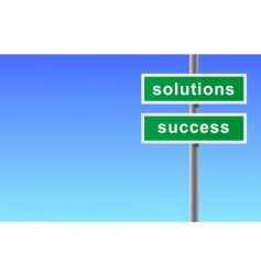 Sign of solutions success vector