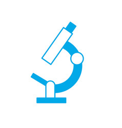 silhouette microscope laboratry object to vector image