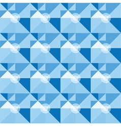 Square blue geometrical abstract pattern vector