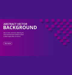 square geometric background ultra violet trendy vector image