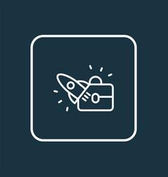 Startup icon line symbol premium quality isolated vector