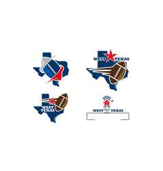 texas football template vector image