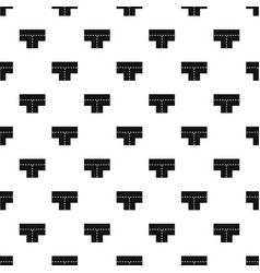 Tshaped crossroad pattern vector