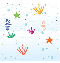 undersea cartoon background vector image