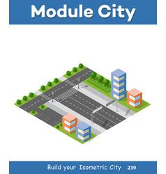 urban isometric skyscraper vector image