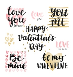 Valentine s Day Calligraphic Set vector image