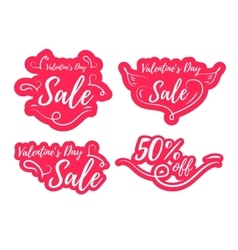 Valentines day sale promo vector image