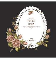Vintage card on dark background vector