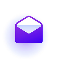 web icon open the envelope purple gradient vector image