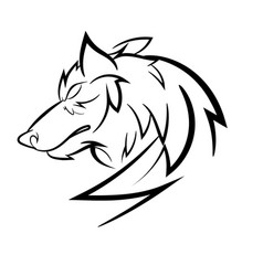 Wolf loggo design vector