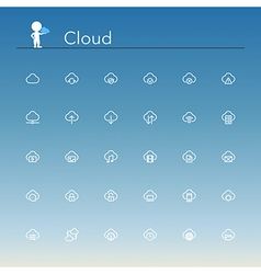 Cloud Line Icons vector image