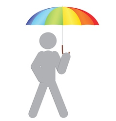 man with umbrella vector image vector image