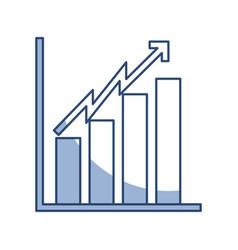 shadow bar chart icon vector image