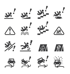 slippery icons set vector image vector image