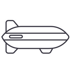aerostat line icon sign on vector image
