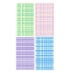Four pastel color mats vector image vector image