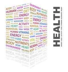 HEALTH vector image