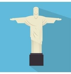 Monument jesus statue rio janeiro vector