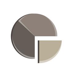 pie chart circle business presentation design vector image