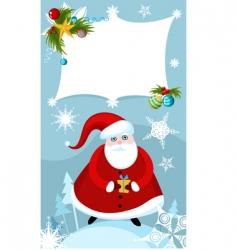 Santa sign vector image vector image