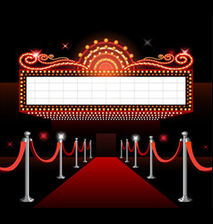 Theater sign movie premiere vector