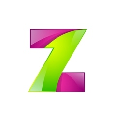 Z letter green and pink logo design template vector image vector image