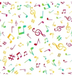Abstract music colorful notes seamless pattern vector image vector image