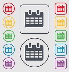 Calendar Date or event reminder icon sign symbol vector image