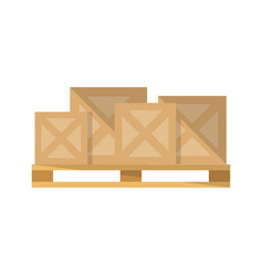 delivery boxes on pallet icon vector image vector image