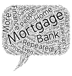 How Repeatedly To Finance Mortgage After vector image vector image
