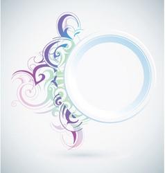 pastel flourish vector image