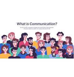 people communication concept vector image vector image