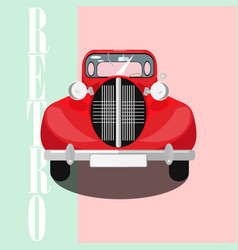 red classic car poster vector image