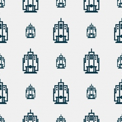 skyscraper icon sign Seamless pattern with vector image